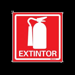 Placa sinalização extintor